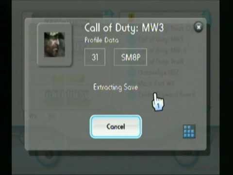 MW3 Profile Backup using Savegame Manager