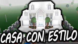 UNA CASA CON *ESTILO* | BLOXBURG | ROBLOX