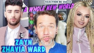 ZAYN, ZHAVIA WARD - A WHOLE NEW WORLD (end song ALADDIN 2019) // REACTION DE COACH