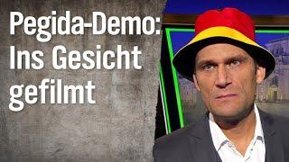 Pegida-Demo: Ins Gesicht gefilmt