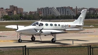 Take-off Cessna 340A (EC-DYT) Sabadell Airport