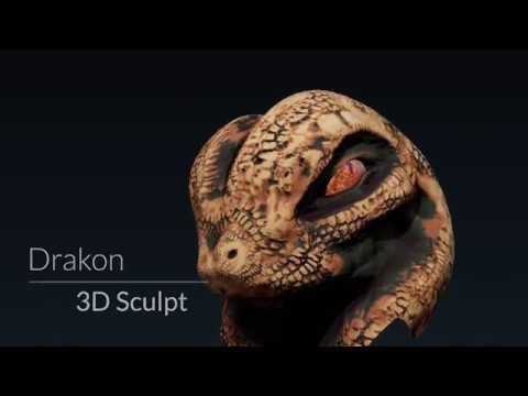 3D Digital Sculpt - Drakon