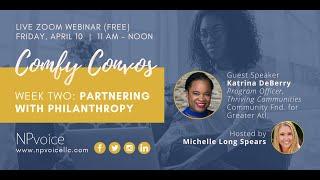 Comfy Convos: Partnering with Philanthropy