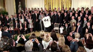 President Obama Meets 2010 World Series Champions
