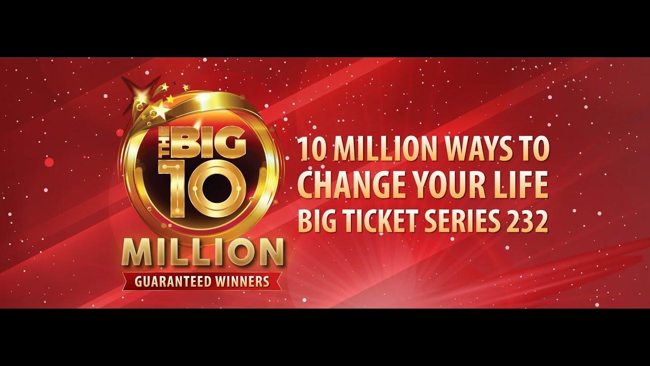 The Big 10 Million Series 232 Live Draw