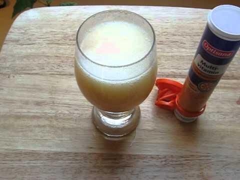 Optisana Multivitamin Brausetabletten (effervescent tablets) Orange LIDL