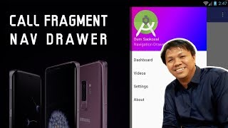How to Call a Fragment from Navigation Drawer in Android Tutorial 2017