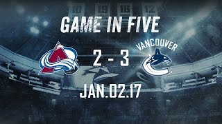Canucks vs. Avalanche Game in Five (Jan. 02, 2017)