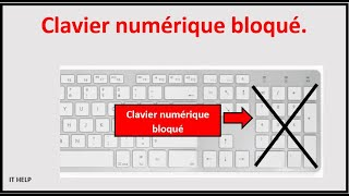 Résoudre problème clavier numérique bloqué ou qui ne fonctionne plus, pc portable , ordinateur.