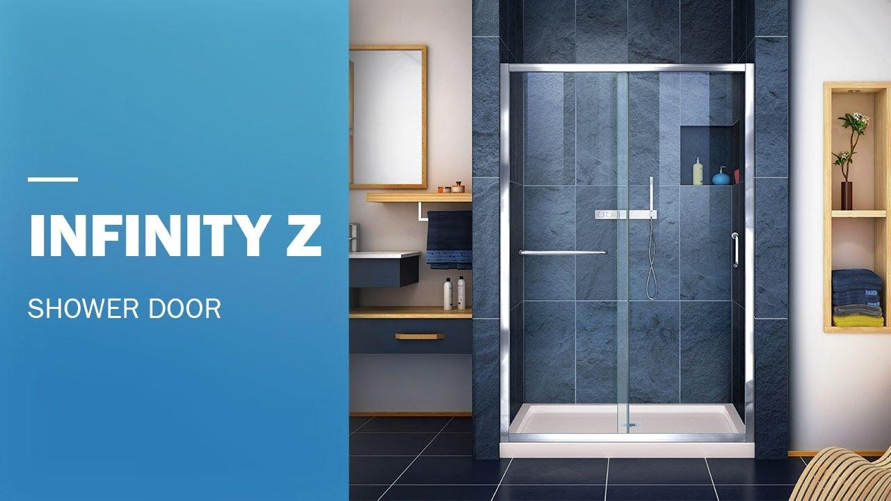 Dreamline Infinity Z Frameless Shower Door 48 Inch Sliding Opening