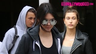 Kendall Jenner, Hailey Baldwin & Anwar Hadid Lunch At Sugarfish  -