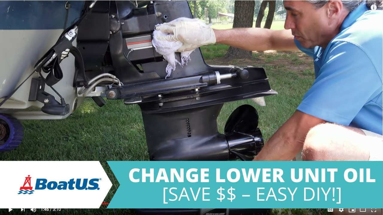 How To Change Your Boat's Lower Unit or Sterndrive Oil | BoatUS