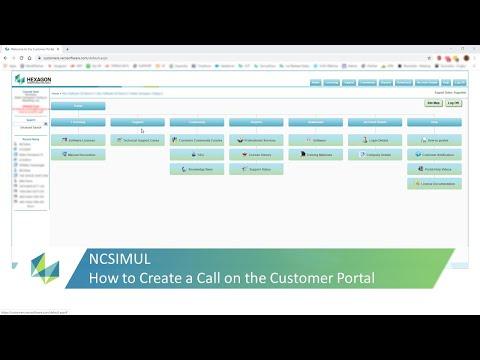 NCSIMUL Customer Portal Call Creation