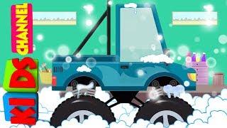 Kids Channel   Monster Truck   car wash   vehicle videos for children