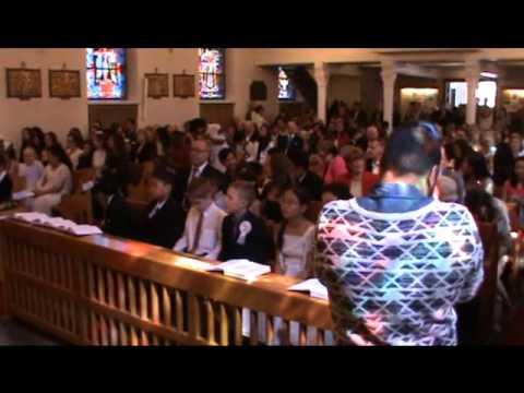 AlexHtwe first communion .