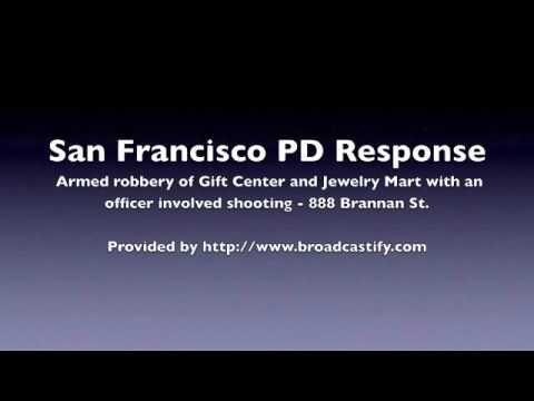 San Francisco PD response to shooting on Brannan St.