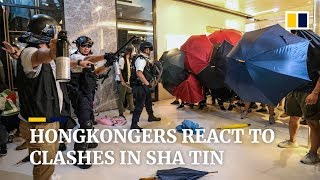 How do Hongkongers feel about the violent protests?