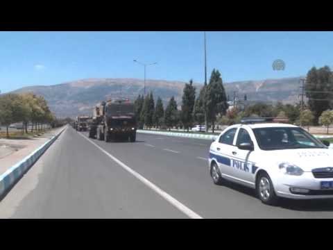 Armoured vehicles are transported to Oncupinar border gate