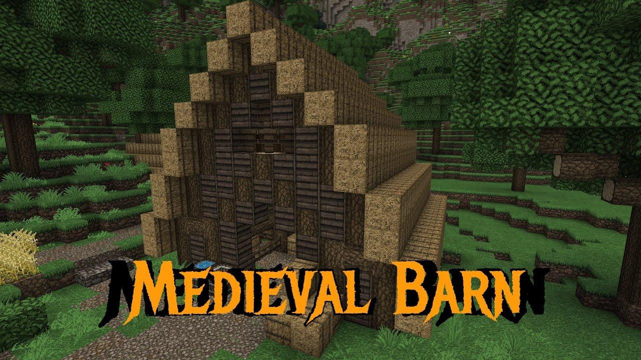 Minecraft Gundahar Tutorials Medieval Barn YouTube