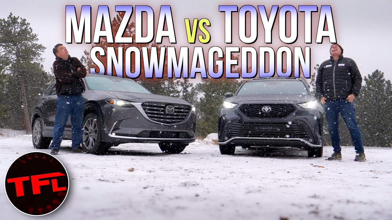 Toyota Highlander vs. Mazda CX-9 vs. Snowstorm: Which One Do You Want When It Turns Frosty & Frozen?