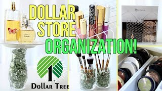 14 Clever DOLLAR STORE Makeup Organization Ideas!