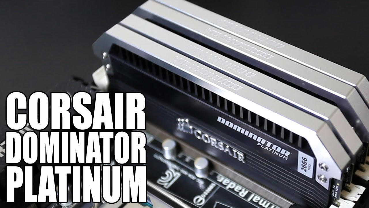 Corsair Dominator Platinum Airflow 16GB 2666 DDR3 Memory Kit Unboxing