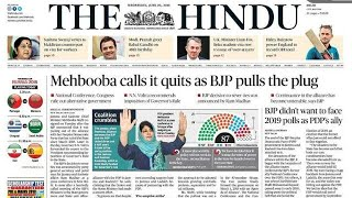 Today's 20 June, 2018 The Hindu Newspaper Discussion and Editorial Analysis in Hindi/English