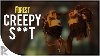 CREEPY S**T! - The Forest Multiplayer w/ Vuxxy Part 9 (The Forest Multiplayer Gameplay)