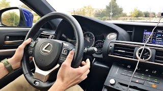 2015 Lexus RC F Paddle Shifter Demo