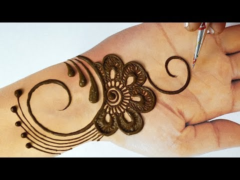 Easy Stylish Mehndi for Eid 2019 - Beautiful Mehndi Design on Hand - रमज़ान,ईद आसान मेहँदी लगाना सीखे
