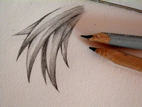 Easy tutorial coloring manga hair with a pencil chizakura art