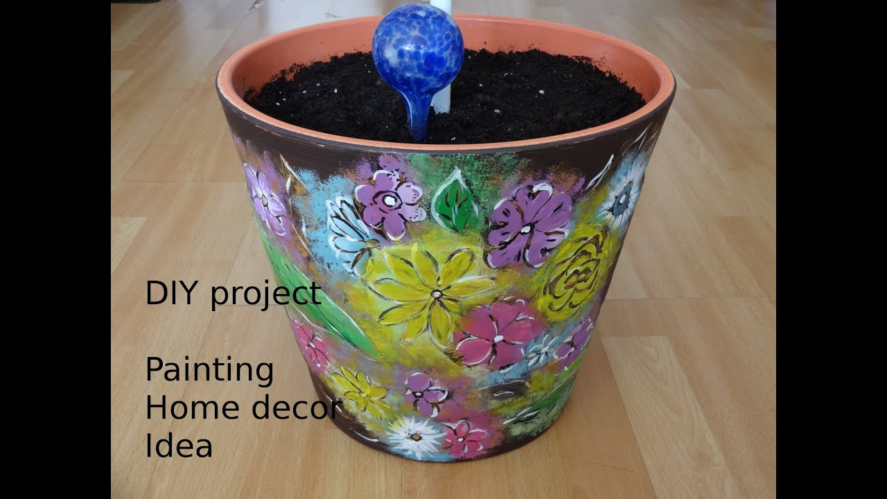 Home Decor How To Paint Flowerpot Diy Project Touch Of