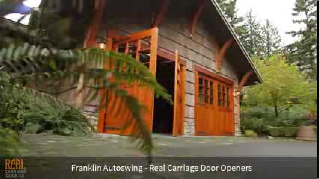 Real Carriage Door Openers Franklin Autoswing Youtube