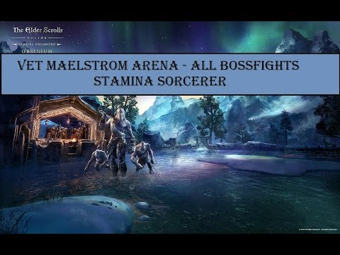 Maelstrom Arena All Bossfights Stamina Sorc - IC DLC