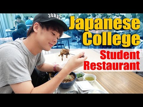 School Lunch In Japan!What Do Japanese University Students Have For Lunch?