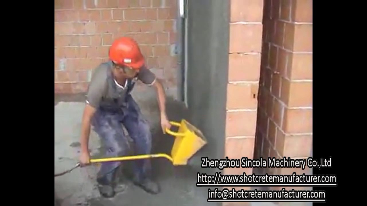Mortar Spray Machines Mail: SINCOLA Manual Operating Cement Mortar Spraying Plaster