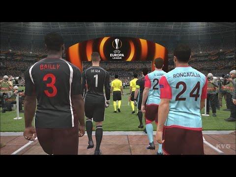 PES 2017 - UEFA Europa League - Manchester United vs RC Celta de Vigo | Gameplay (HD) [1080p60FPS]