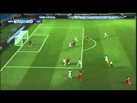 Clint Dempsey Goal 0 45! Ghana vs  USA 1-0 ~ FIFA World Cup