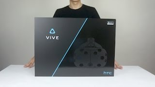 VR虛擬實境 HTC VIVE開箱介紹&實機測試 Unboxing [按CC開啟字幕]
