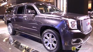 2015 GMC Yukon XL Denali - Exterior and Interior Walkaround - 2015 New York Auto Show
