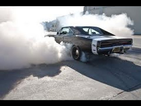 Drag Race Car Doing Burn Out
