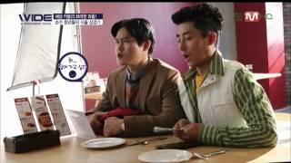 131216 와이드연예뉴스 손호준 김성균 피자헛 CF 촬영현장