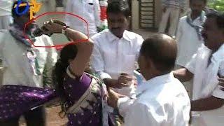 Spat Between YCP Leaders @ Flag Hoisting In  Karimnagar