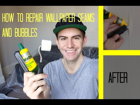 how-to-repair-wallpaper-seams-/-fix-bubbles