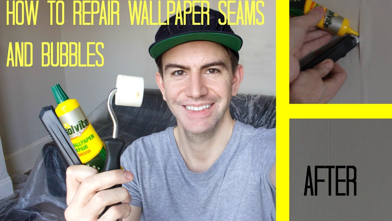 How To Repair Wallpaper Seams Fix Bubbles Youtube If You39re Not Sure Patch Drywall There39s Plenty Of Videos On