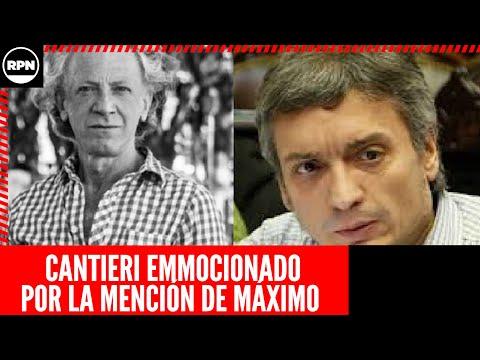 El militante que mencionó Máximo Kirchner le respondió con un emocionante mensaje de agradecimiento