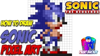 How to Draw Sonic the Hedgehog 16-Bit - Drawing Sega's Sonic the Hedgehog Pixel Art Tutorial(Drawing Pixel Art Tutorial #8 - How to Draw Sonic the Hedgehog 16-Bit - Sonic from Sega's Sonic the Hedgehog video games Pixel Art Photoshop Drawing ..., 2017-01-10T04:24:28.000Z)