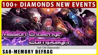 100+ Free Diamonds Events & OS Equipments Are Back! (SAO Memory Defrag)