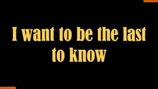 DEL AMITRI: ALWAYS THE LAST TO KNOW (LYRICS VERSION)