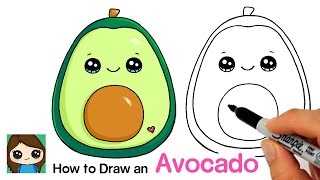 How to Draw an Avocado Fruit  Squishmallows